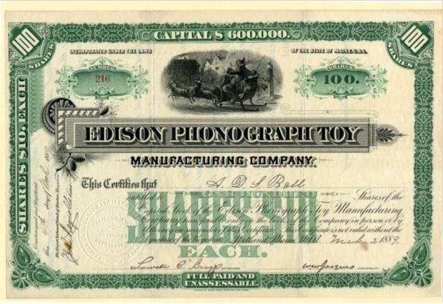 Edison Stock certificate 2