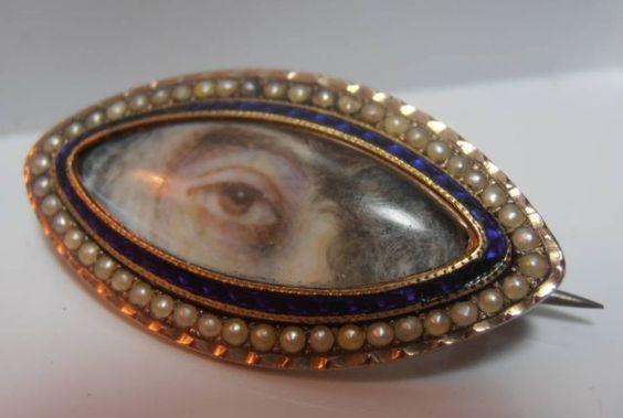 very-rare-georgian-gold-seed-pearl-enamel-navette-lovers-eye-brooch-ebay